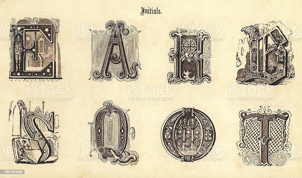 Mittelalterlicheinitialen Stock Vektor Art Und Mehr Bilder Von Alphabet Istock