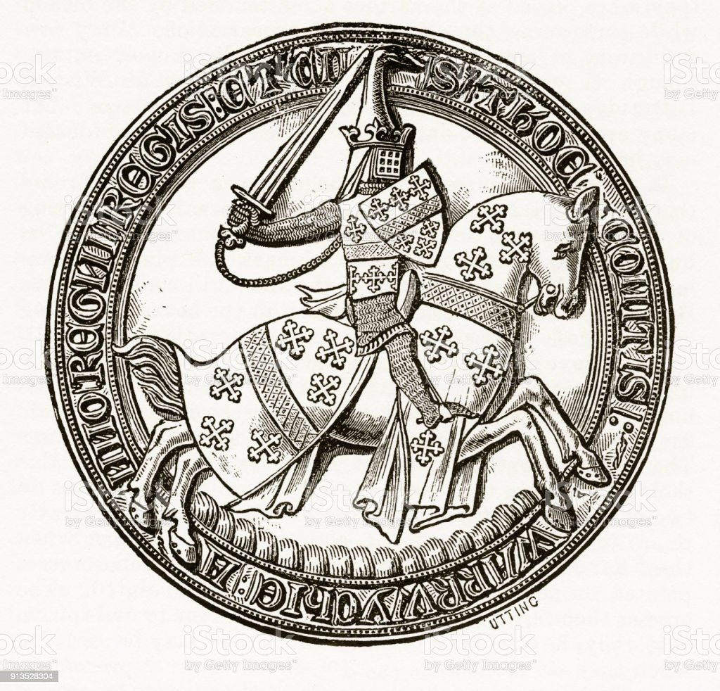 Medieval knight on horseback with christian symbolism engraving medieval knight on horseback with christian symbolism engraving royalty free medieval knight on horseback with biocorpaavc Image collections