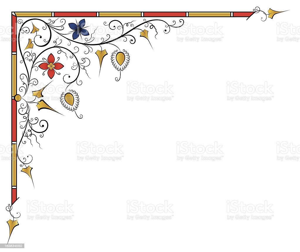Medieval page design royalty-free stock vector art