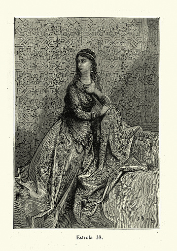 Medieval Princess, Heroine of a Chivalric romance, Beautiful young woman