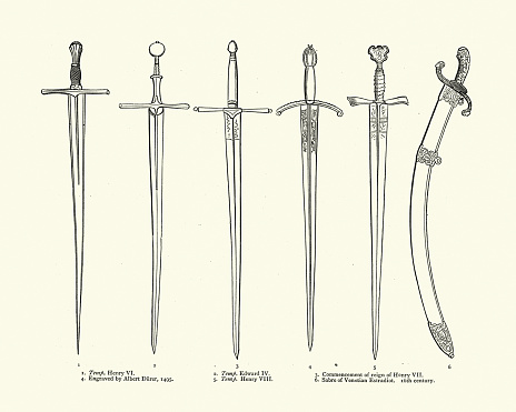 Medieval swords, English 15th  and 16th Century, Venetian Sabre