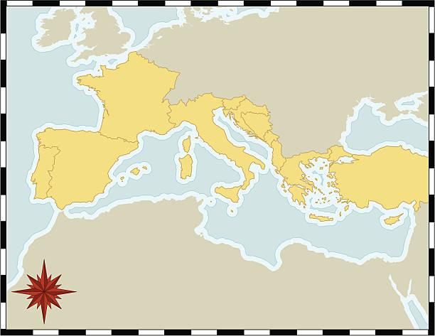 Mare Mediterraneo Cartina.Mar Mediterraneo Illustrazioni E Vettori Stock Istock