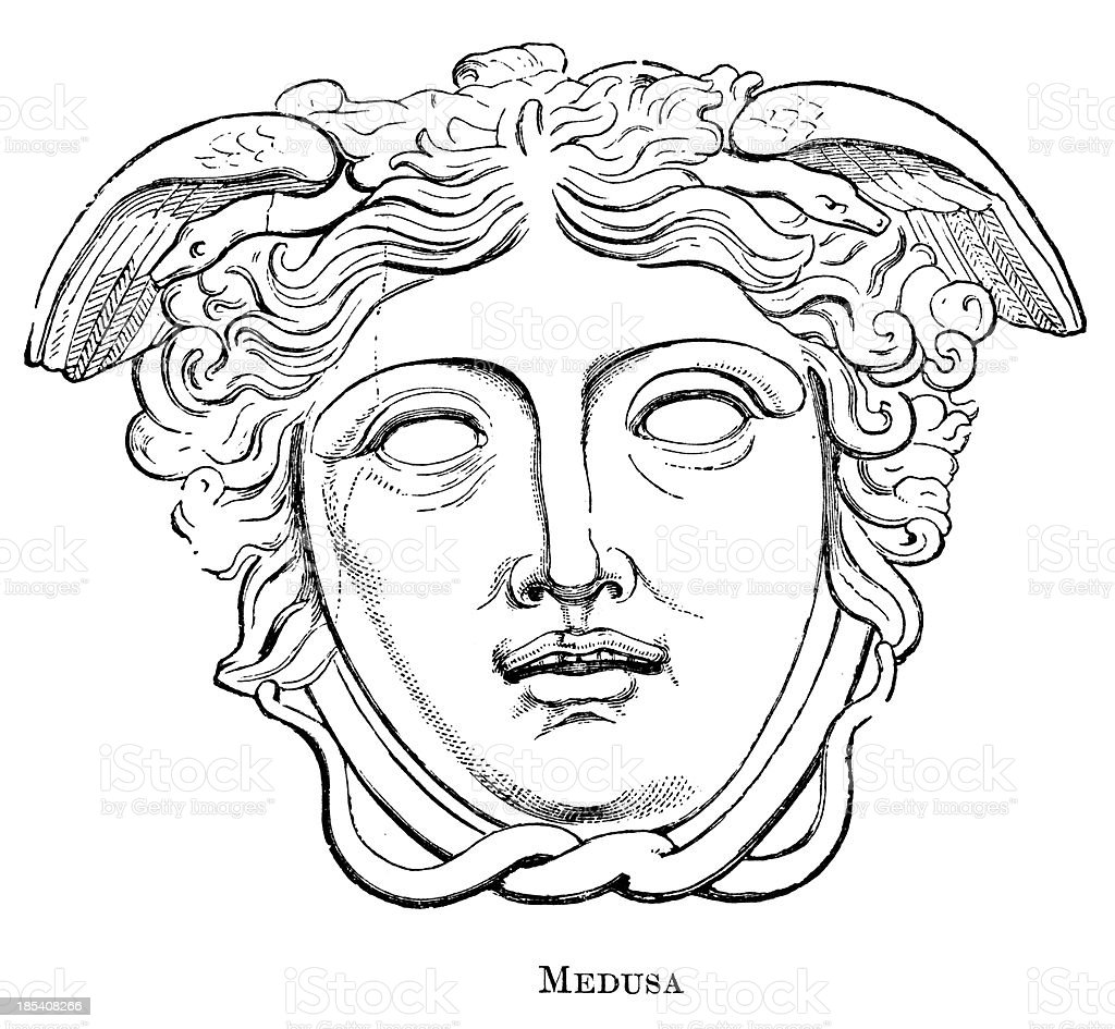 Medusa stock vector art more images of ancient 185408266 for Medusa da colorare
