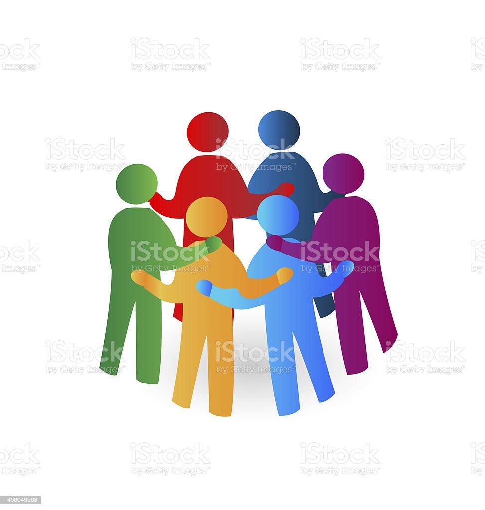 Logotipo de personas - ilustración de arte vectorial