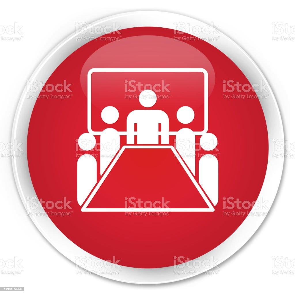 Meeting Room Icon Premium Red Round Button Stock Illustration   Download  Image Now