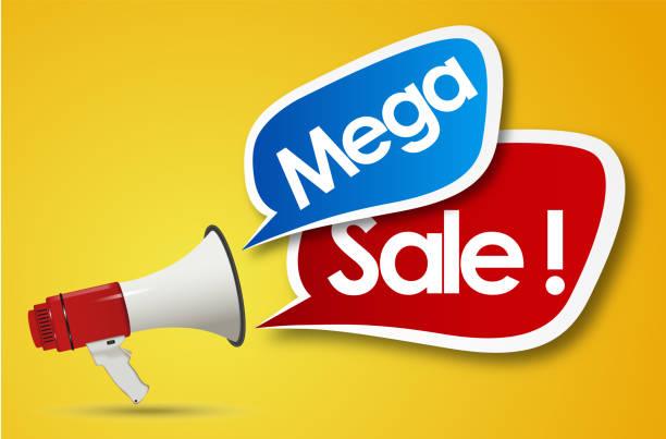 Mega-Verkauf – Vektorgrafik
