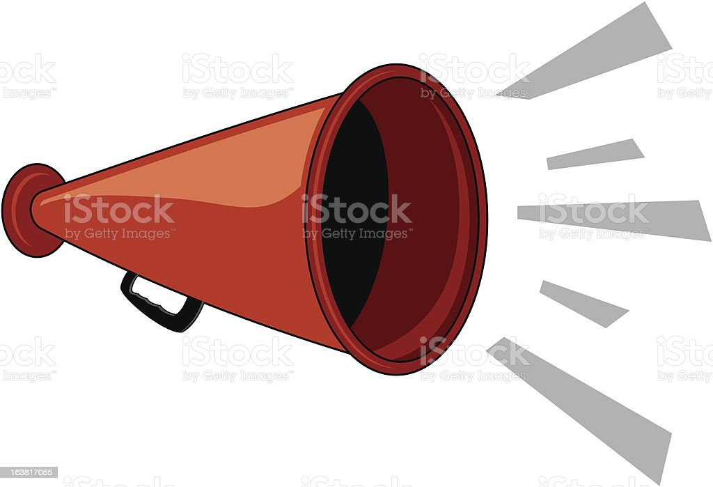 Megaphone royalty-free stock vector art