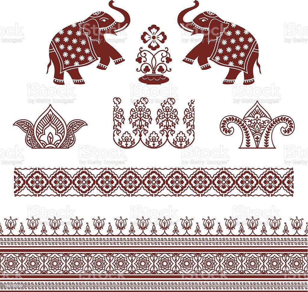Mehndi Ornaments vector art illustration