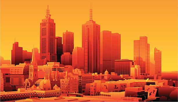 melbourne, australia - melbourne stock illustrations