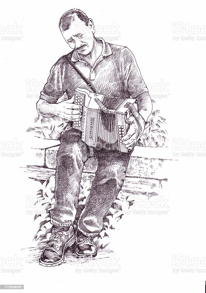 melodeon player royalty-free stock vector art