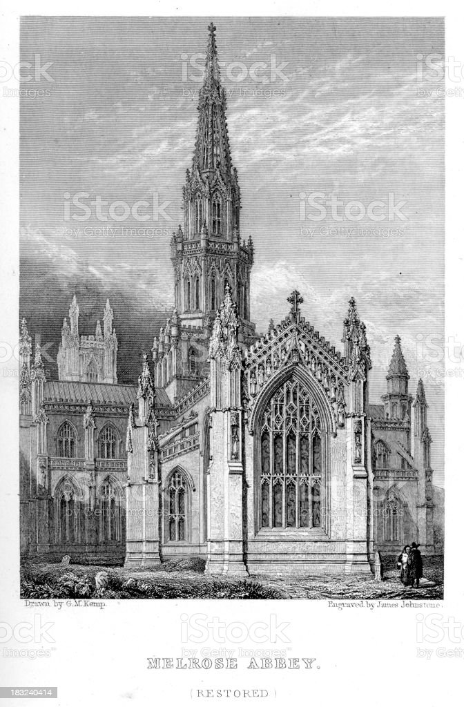 Melrose Abbey royalty-free melrose abbey stock vector art & more images of 19th century