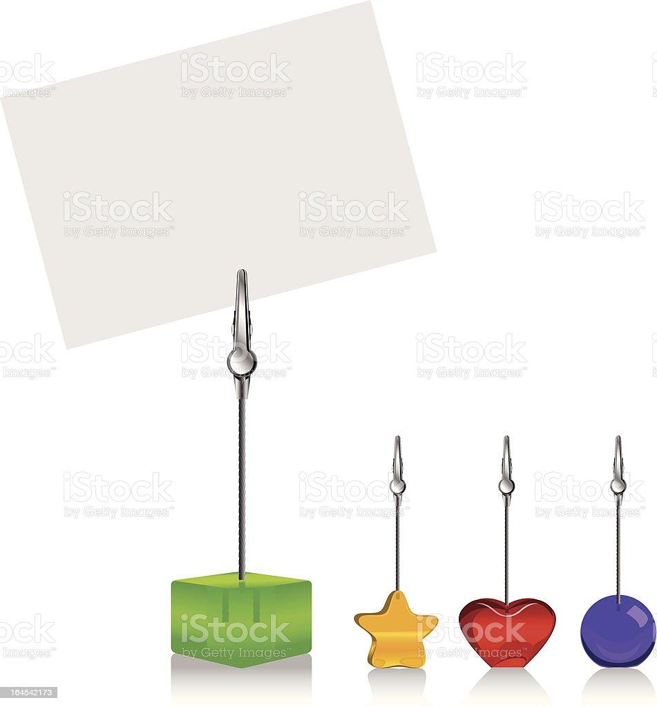 Memo Clip - Business Card Holder royalty-free stock vector art