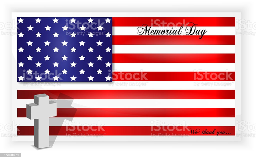 Background of american flag for memorial day, last monday of May,...