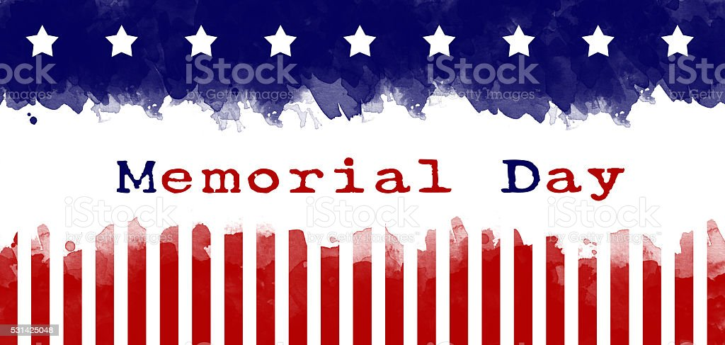 memorial day greeting card american flag grunge background vector art illustration
