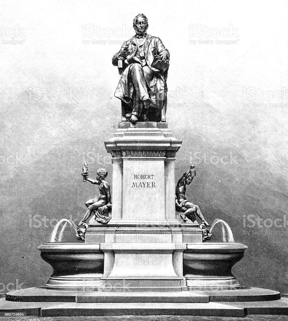 Memorial for Robert Mayer in Heilbronn - Royalty-free 1890-1899 stock illustration