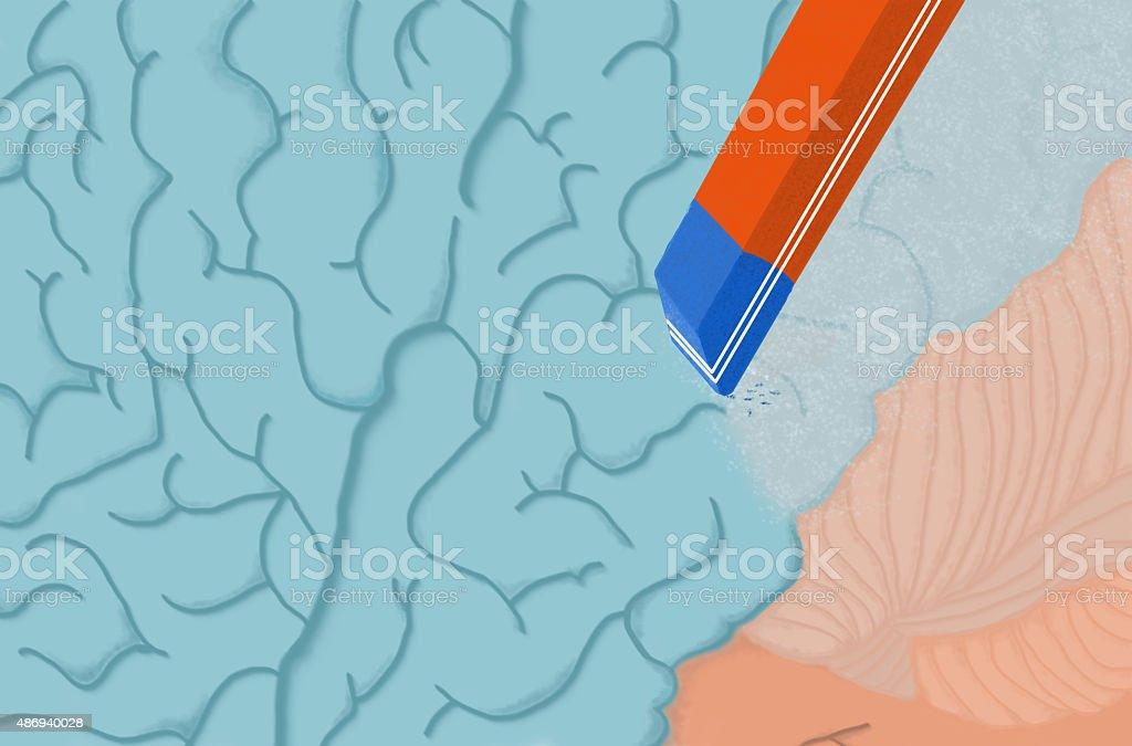 memory loss vector art illustration
