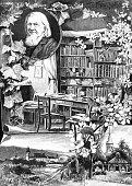 Memory of the 100th birthday of the German poet Hoffmann von Fallersleben