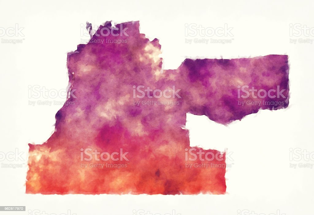 Memphis Tennessee city watercolor map in front of a white background vector art illustration