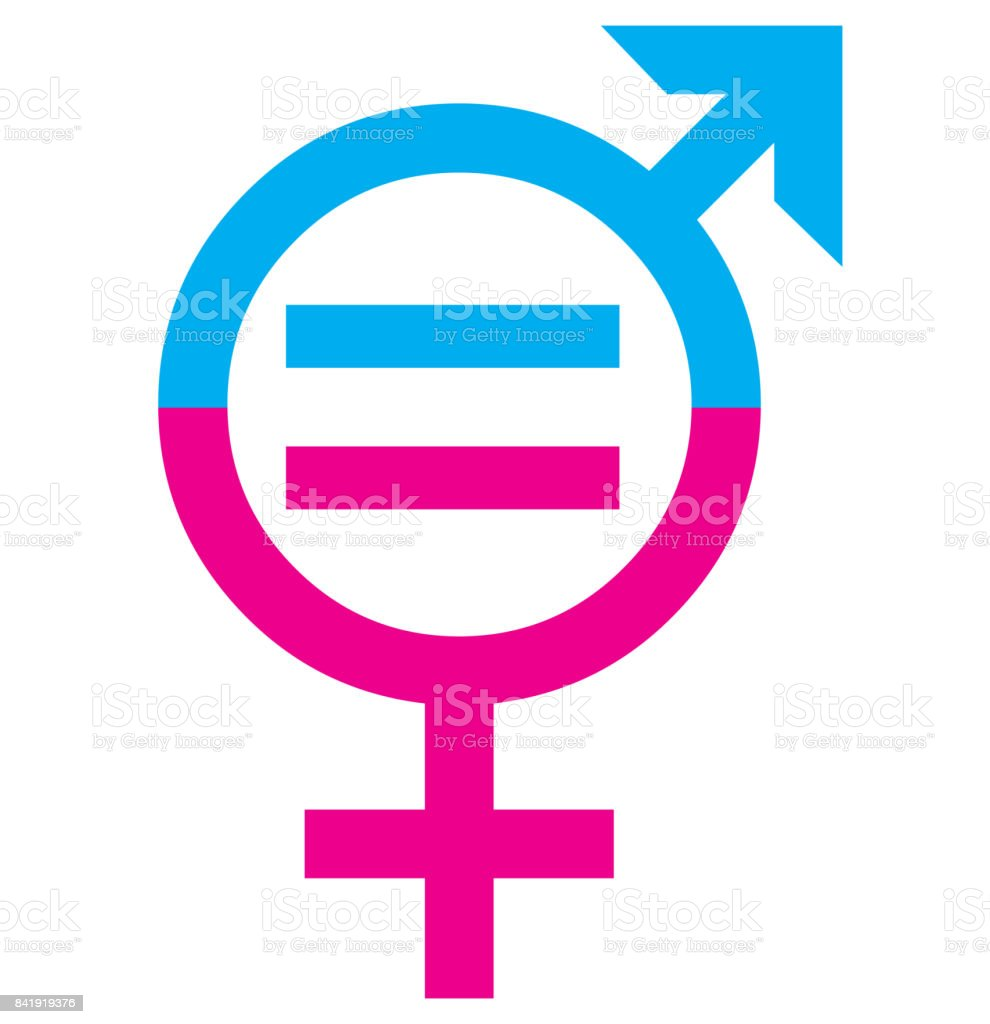 Men and women sex equality sign concept vector art illustration