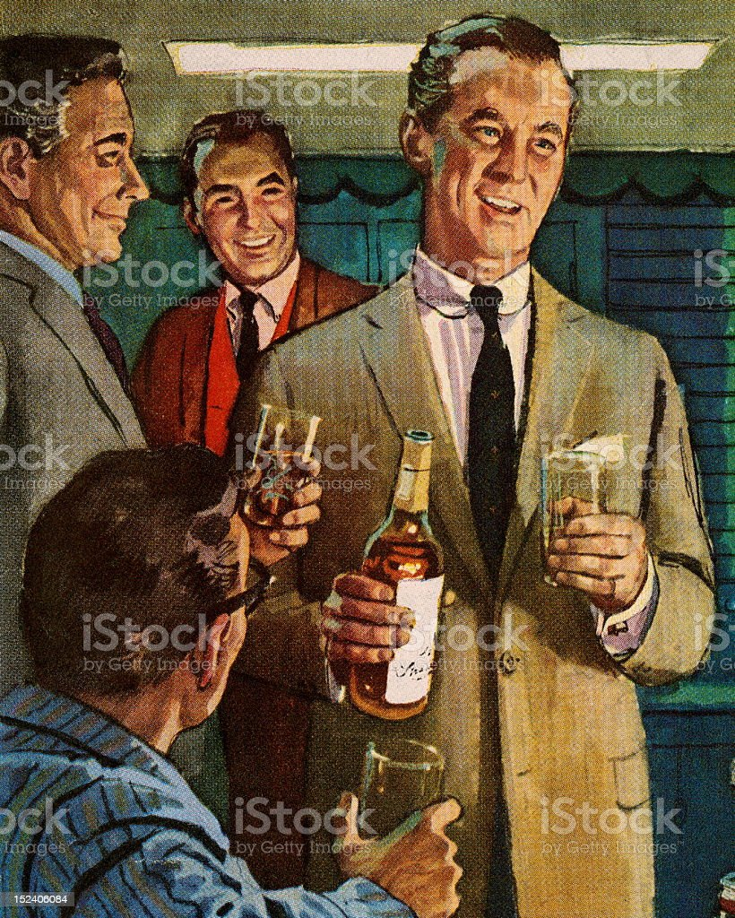 Men Drinking royalty-free men drinking stock vector art & more images of adult
