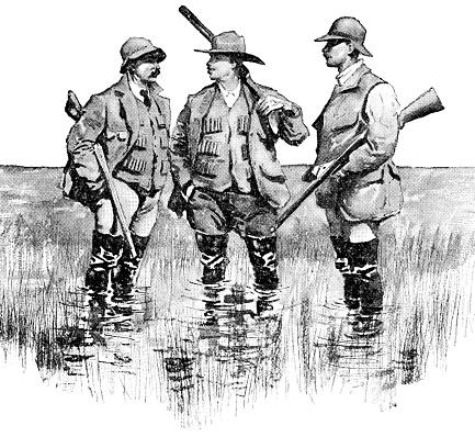 Men Duck Hunting in North Dakota, United States - 19th Century