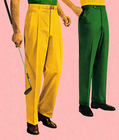 Men in Green and Gold Slacks