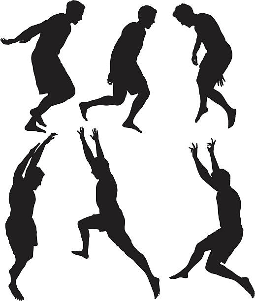 stockillustraties, clipart, cartoons en iconen met men jumping in excitement - menselijke arm