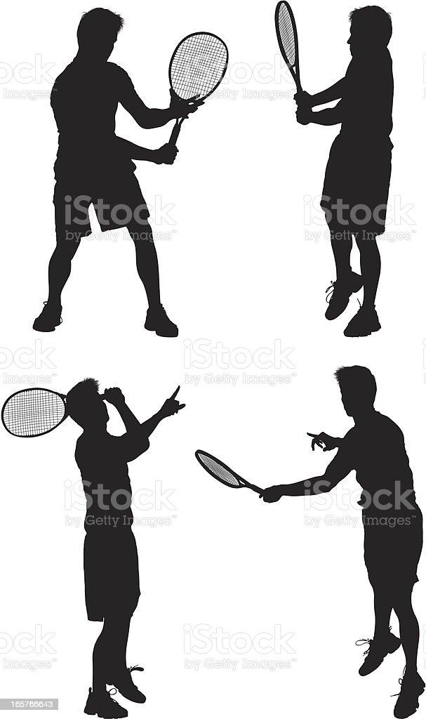 Men playing tennis royalty-free stock vector art