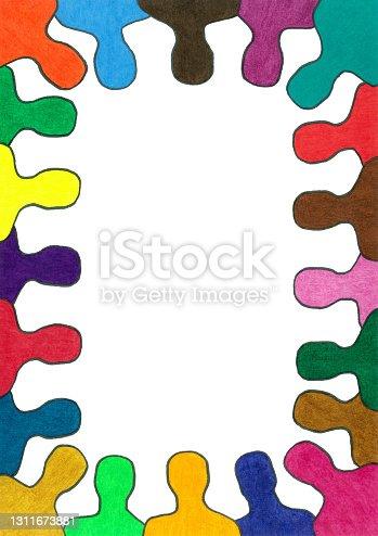istock Men silhouettes frame 1311673881