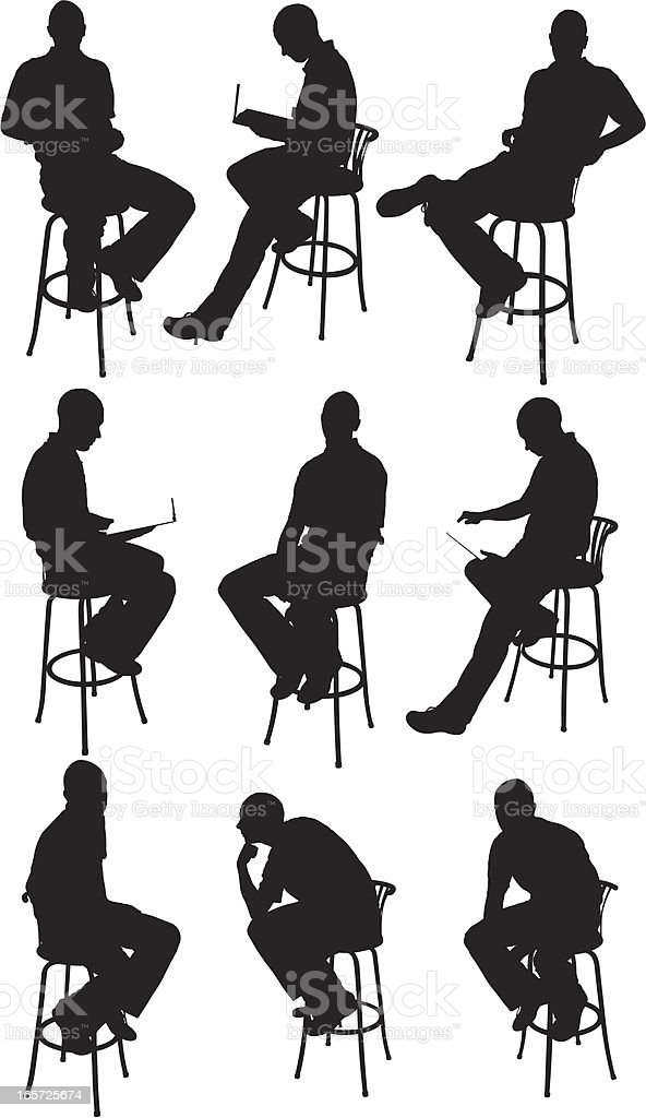 Men sitting on chairs royalty-free men sitting on chairs stock vector art & more images of adult