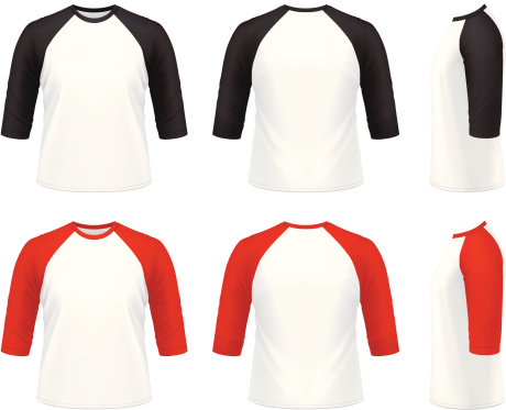 Men's 3/4 sleeve raglan t-shirt