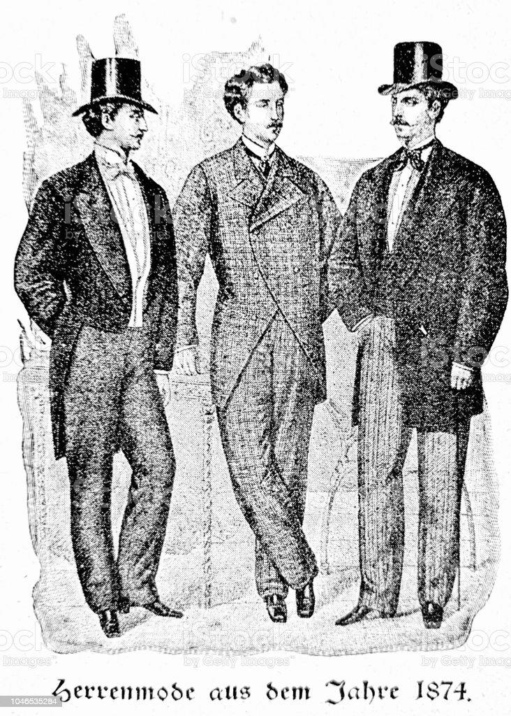 メンズ ファッション1874 正装 18901899年のベクターアート素材や