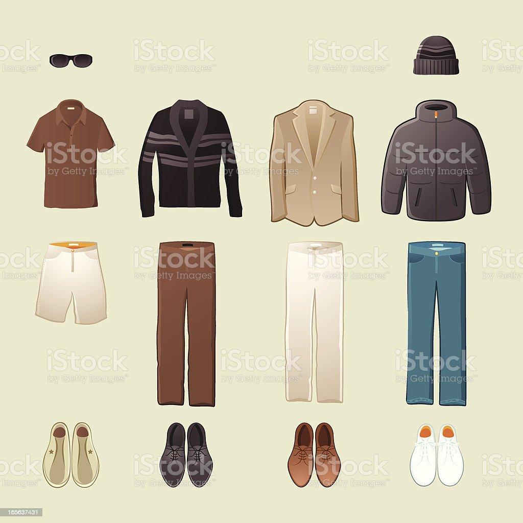 メンズファッション よそいきの服のベクターアート素材や画像を多数ご