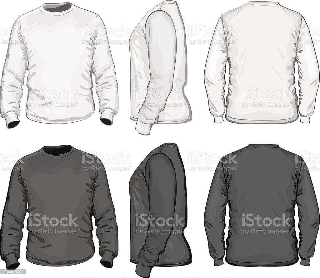 Men's t-shirt design template (long sleeve) royalty-free stock vector art