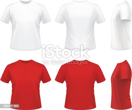 Vector illustration of men's t-shirt.
