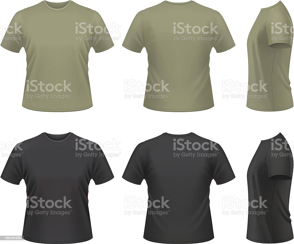 Men's T-shirt royalty-free mens tshirt stock illustration - download image now