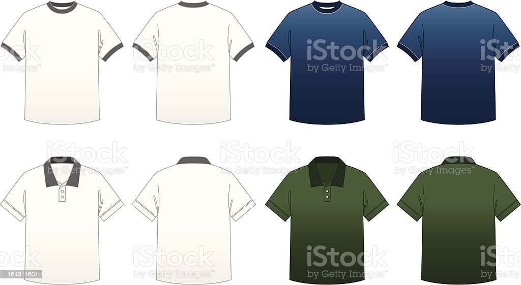 Men's T-shirt Templates-Series 2 royalty-free stock vector art