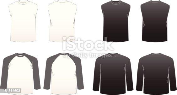 Men's T-shirt Templates-Series 3