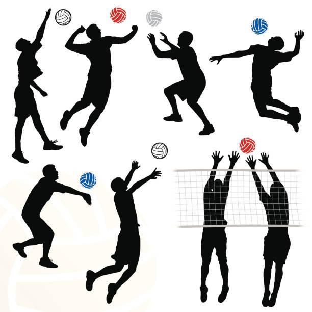 男子バレーボール - バレーボール点のイラスト素材/クリップアート素材/マンガ素材/アイコン素材
