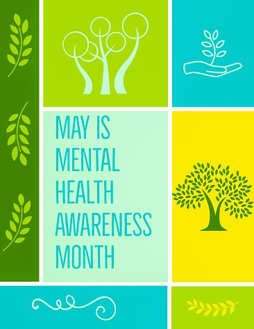 Mental Health Awareness Month Stock Illustration ...