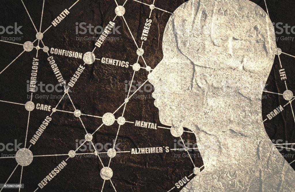 mental health relative words cloud vector art illustration