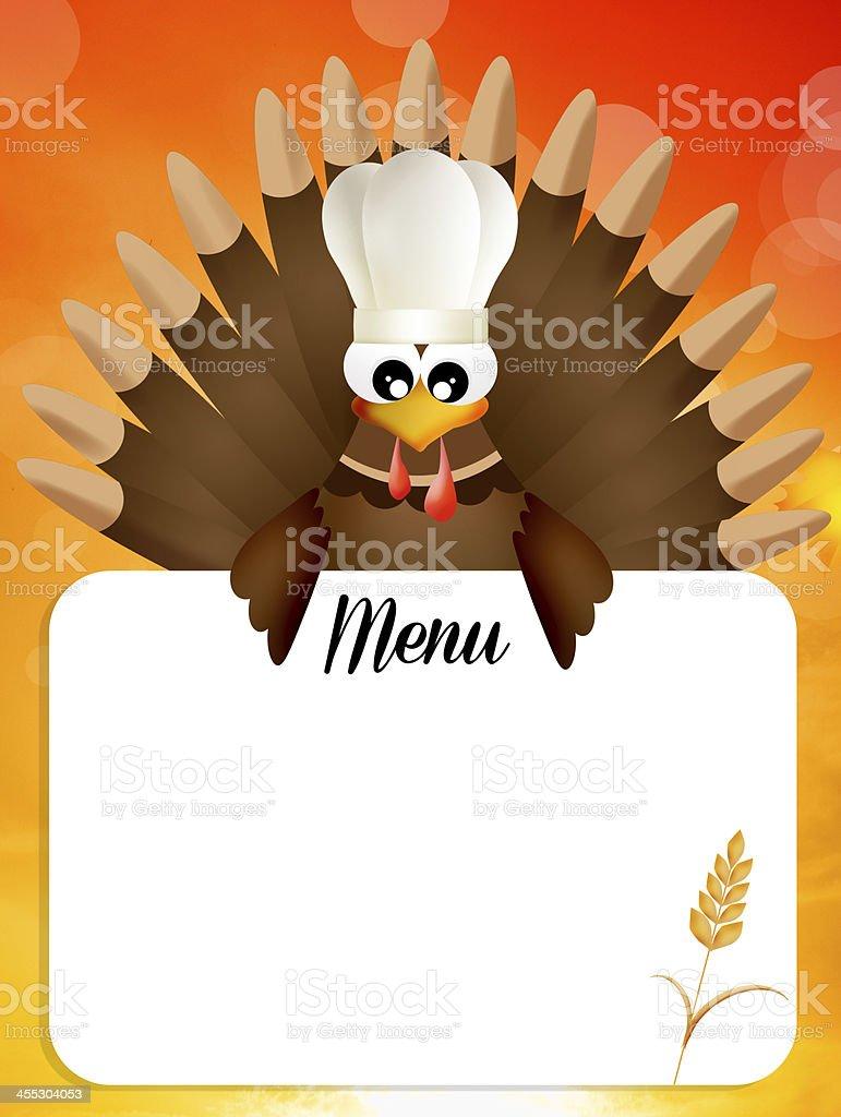 menu for Thanksgiving royalty-free stock vector art