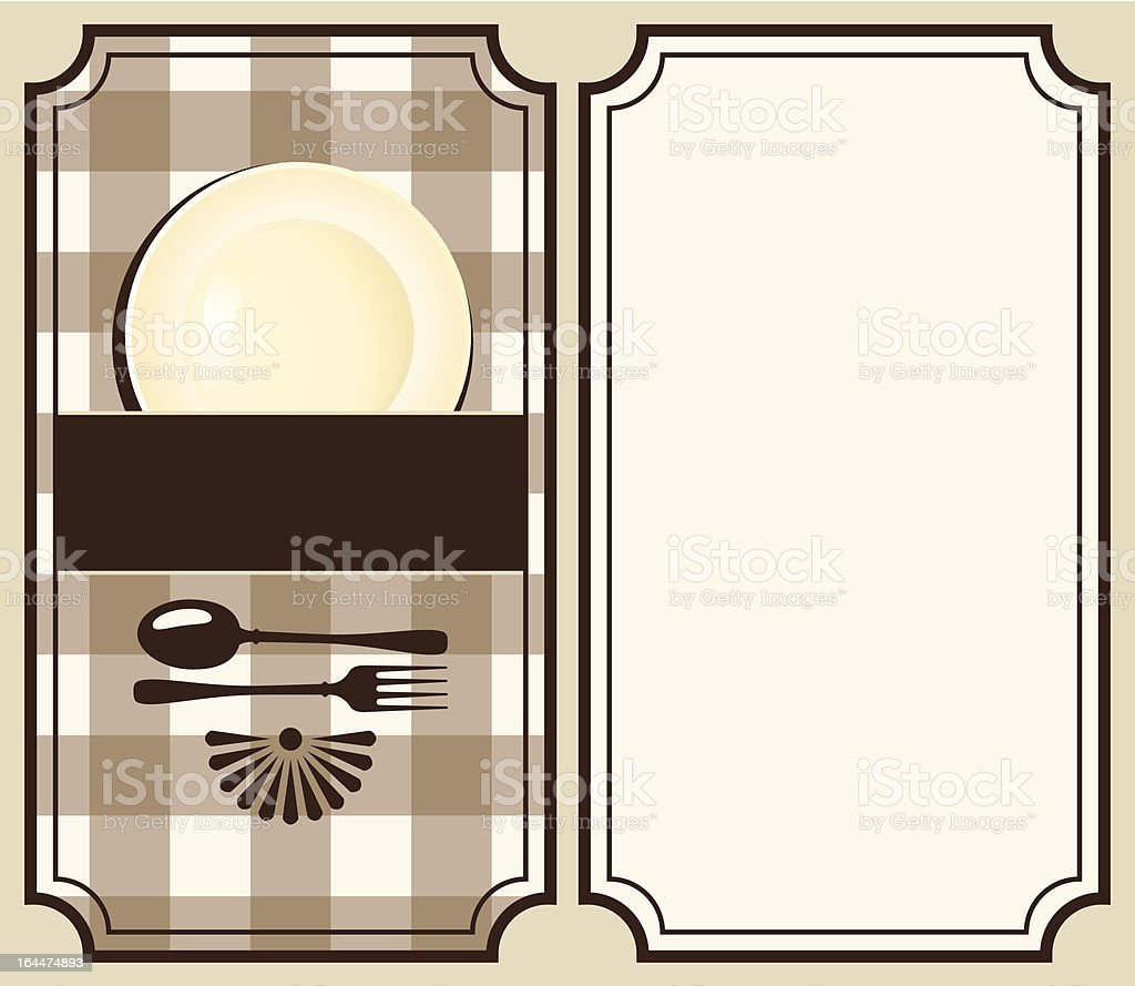 menu with plate royalty-free stock vector art