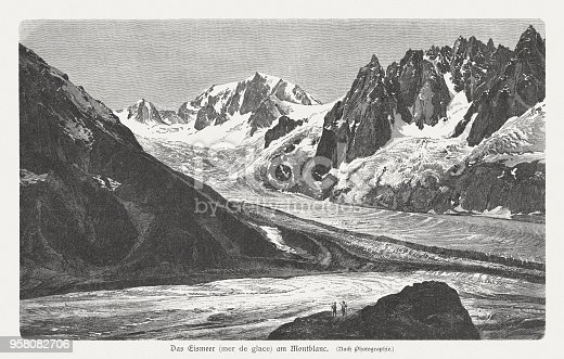istock Mer de Glace, Mont Blanc massif, French Alps, published 1897 958082706