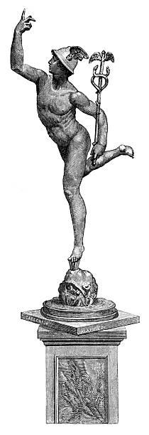 illustrazioni stock, clip art, cartoni animati e icone di tendenza di mercury - ancient medical symbol