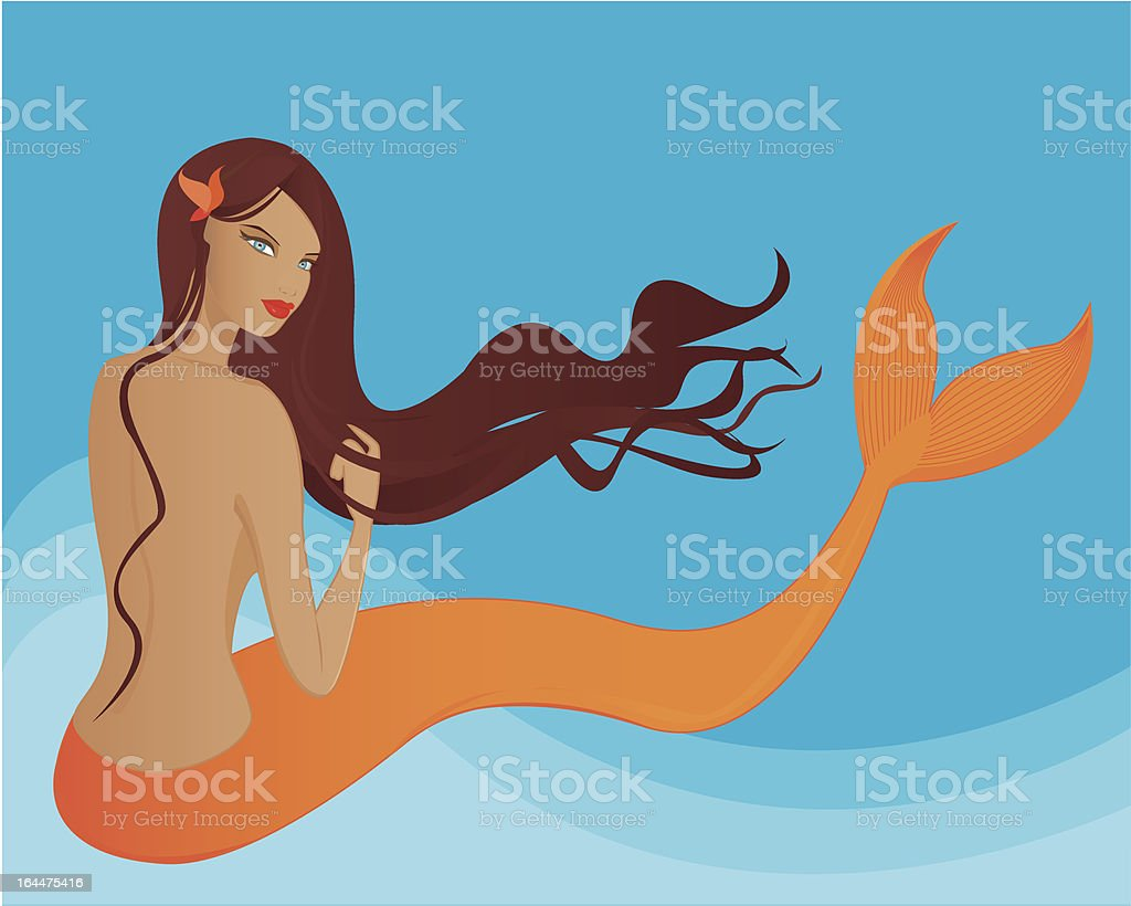 Mermaid (2362 X 1890 300dpi jpg incl.) vector art illustration