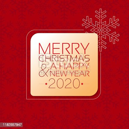 istock Merry Christmas and a Happy New Year 2020 1182557947