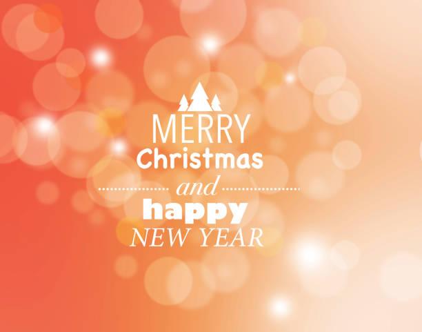Feliz Navidad y feliz año nuevo tarjeta - ilustración de arte vectorial