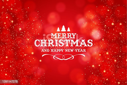 istock Merry Christmas and Happy New Year greeting 1291147275