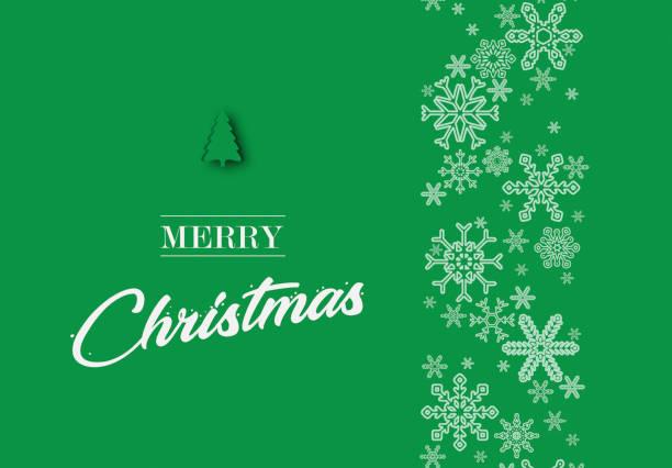 聖誕快樂裝飾文本在綠色聖誕背景向量藝術插圖